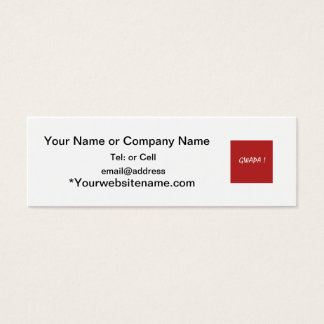 Red gwapa text design cebuano Filipino Tagalog Mini Business Card