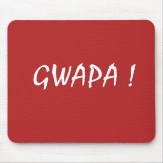Red gwapa text design cebuano Filipino Tagalog Mouse Pad