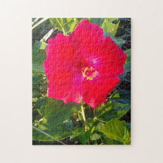 RED HABISCUS FLOWER JIGSAW PUZZLE