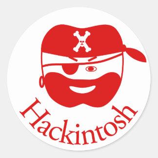 Red Hackintosh Sticker
