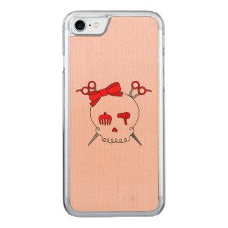 Red Hair Accessory Skull -Scissor Crossbones #2 Carved iPhone 7 Case