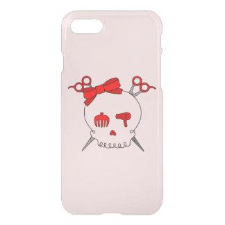 Red Hair Accessory Skull -Scissor Crossbones #2 iPhone 7 Case