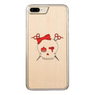 Red Hair Accessory Skull -Scissor Crossbones Carved iPhone 7 Plus Case
