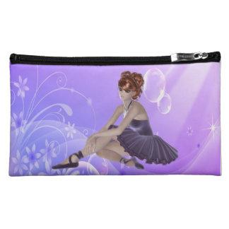 Red Hair Ballerina Cosmetic Bag
