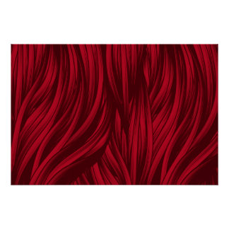 Red hair fur texture poster