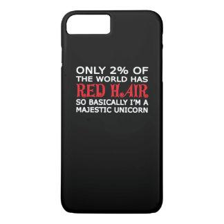 RED HAIR MAJESTIC UNICORN iPhone 7 PLUS CASE