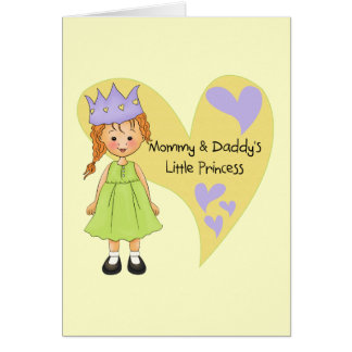 Red Hair Mommy and Daddy s Princess Greeting Cards