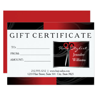 red hair salon gift cards