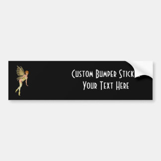 Red Haired 3D Pixie - Yellow Green Outfit Bumper Sticker