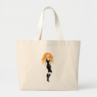 red-haired canvas bags