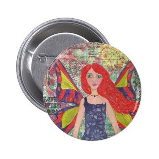 Red Haired Dreamer.jpg 2 Inch Round Button
