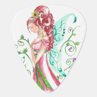 Red Haired Faery Guitar Pick