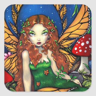 """""""Red Haired Fairy Queen"""" Sticker"""
