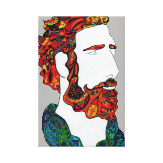 Red-haired hipster dude canvas print
