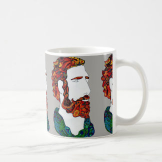 Red-haired hipster dude coffee mug