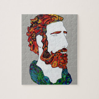 Red-haired hipster dude jigsaw puzzle