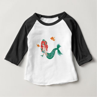 Red Haired Mermaid 2 Baby T-Shirt