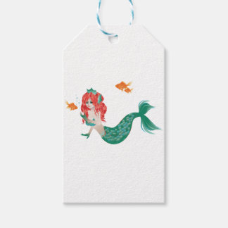 Red Haired Mermaid 2 Gift Tags