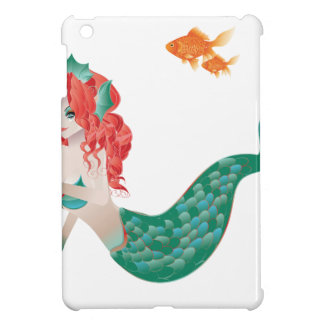 Red Haired Mermaid 2 iPad Mini Covers