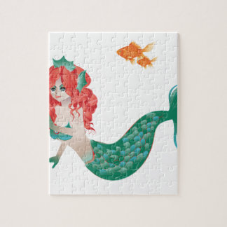 Red Haired Mermaid 2 Jigsaw Puzzle