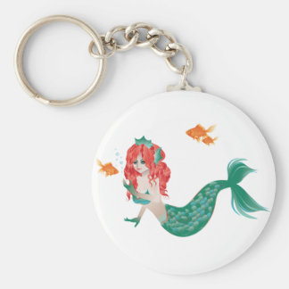 Red Haired Mermaid 2 Keychain