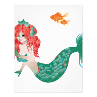 Red Haired Mermaid 2 Letterhead