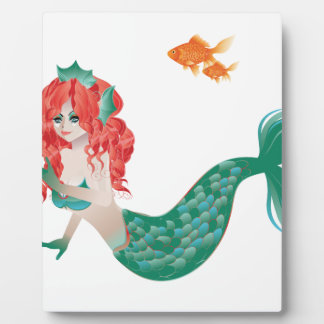 Red Haired Mermaid 2 Plaque