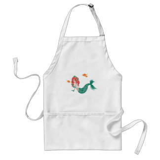 Red Haired Mermaid 2 Standard Apron