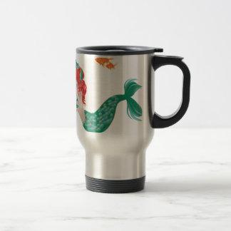Red Haired Mermaid 2 Travel Mug