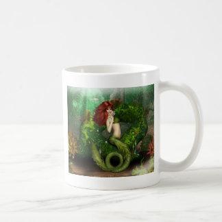 Red Haired Mermaid Coffee Mug