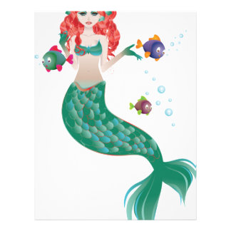 Red Haired Mermaid Letterhead
