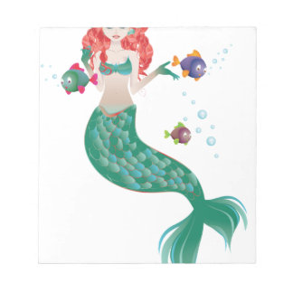 Red Haired Mermaid Notepad