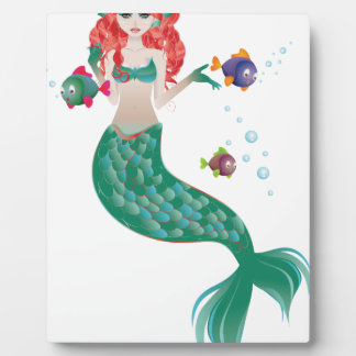 Red Haired Mermaid Plaque