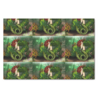 Red Haired Mermaid Tissue Paper