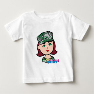 Red Haired Military Girl Camo Head Tshirt