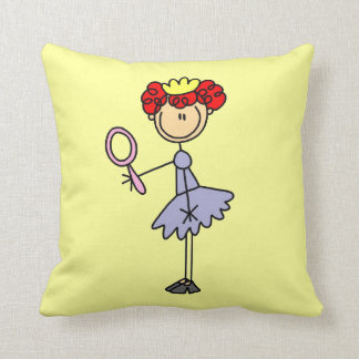 Red Haired Princess Throw Pillow