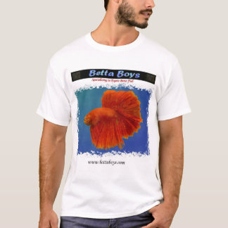 Red HalfMoon Betta Shirt by Betta Boys
