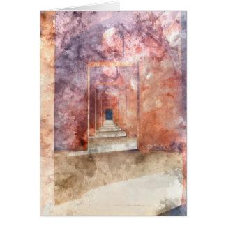Red Hallway at the Taj Mahal Card