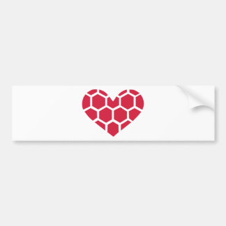 Red Handball heart Bumper Sticker
