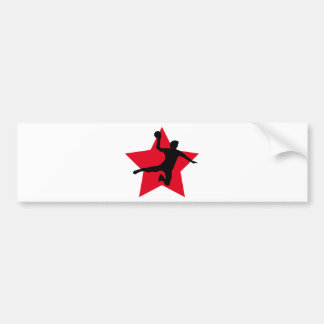 red handball star bumper sticker