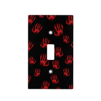 Red Hands Light Switch Cover