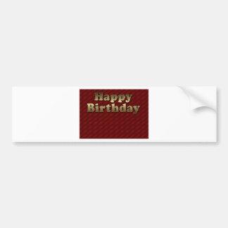 Red Happy-birthday #2 Bumper Sticker