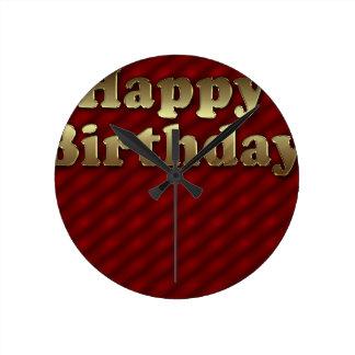 Red Happy-birthday #2 Clock