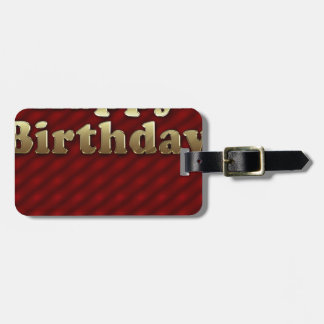 Red Happy-birthday #2 Luggage Tag