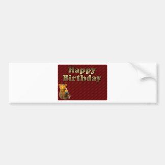 Red Happy-birthday Bumper Sticker