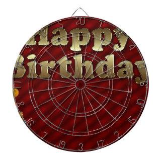 Red Happy-birthday Dartboard