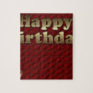 Red Happy-birthday Jigsaw Puzzle