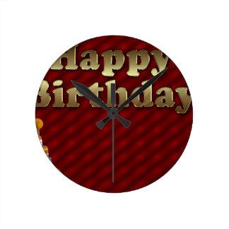 Red Happy-birthday Wallclock