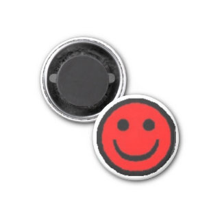 Red Happy Face Magnet