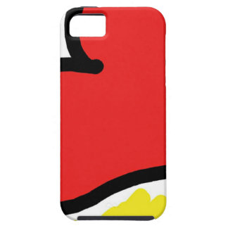 red happy heart iPhone 5 cover